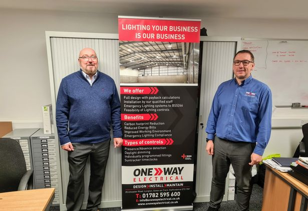 Chris Buckley and Wayne Bennett from One Way Electrical