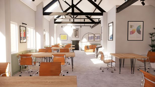 How the new flexible offices and co-working hub at The Jointworks will look
